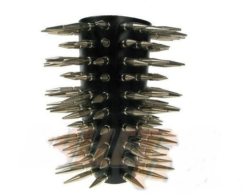 80's Metal - 10 Row Large & Medium Spike Arm Gauntlet