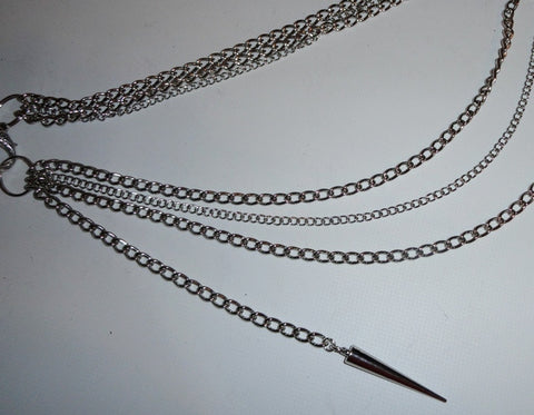 Karen West - 3 Row Silversteel Chainz Belt