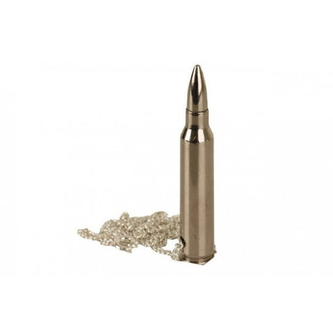 5.56mm Nickel Bullet & Neck Chain