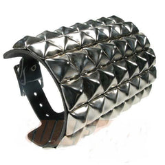 80's Metal - 7 Row Silver Stud Arm Gauntlet