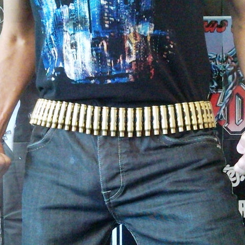 7.62 Untipped Brass Bullet & Reversed Black Link Belt