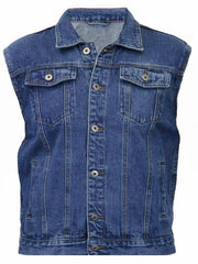 80's Metal 'Iron Duke' Blue Denim Cut-Off