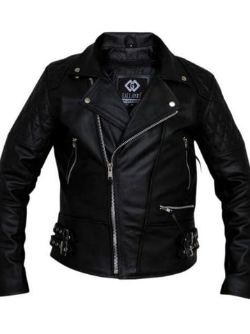 80's Metal 'Black Diamond' Leather Jacket
