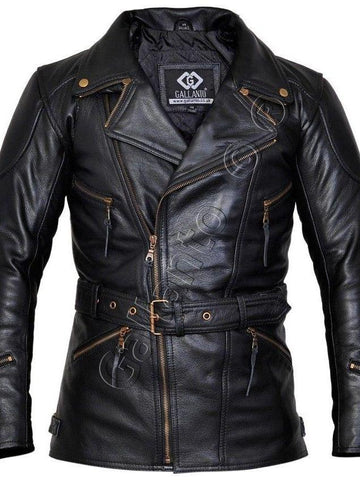 80's Metal Black Diamond 'Metal God' Leather Coat