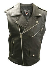 80's Metal 'Metal God' Sleeveless Leather Jacket