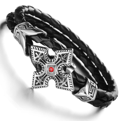 80's Metal - Sign Of The Cross Heavy Metal Wristband
