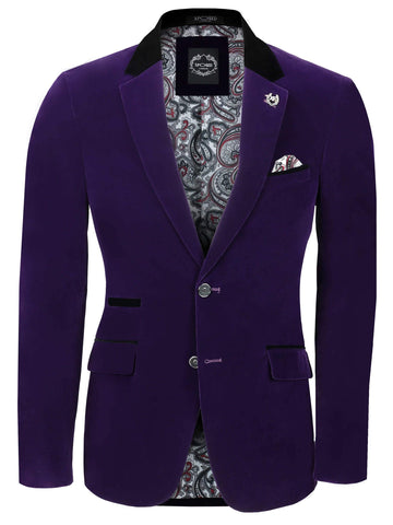 80's Glam Purple Velvet Jacket