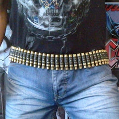 7.62 Untipped Brass Bullet & Black Link Belt