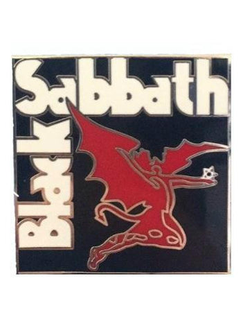 80's Metal Black Sabbath Badge