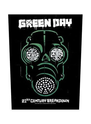 Green Day - Gas Mask Back Patch