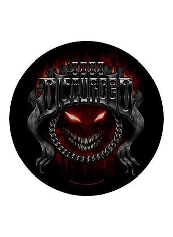 Disturbed - Chrome Smiley Patch