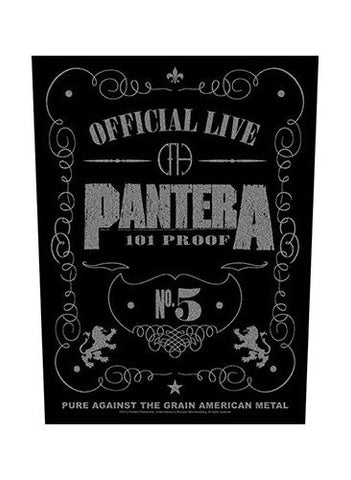 Pantera - 101% Proof Back Patch