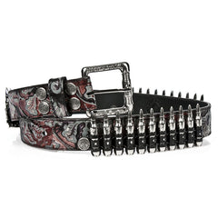 New Rock Red Vintage Bullet Belt