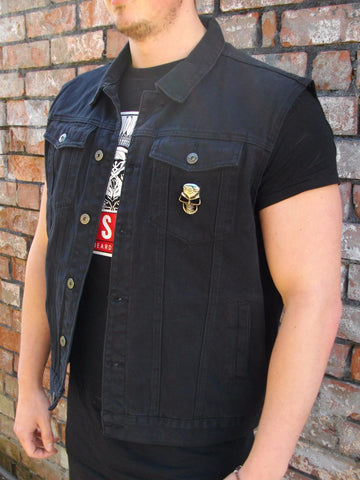 Metalworks 'Iron Duke' Black Denim Cut-Off