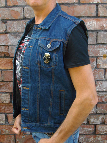 Metalworks 'Iron Duke' Blue Denim Cut-Off