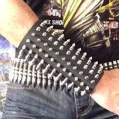 80's Metal - 11 Row Short Spike Arm Gauntlet