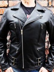 80's Metal Black Diamond 'Bullet' Leather Jacket