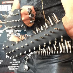 80's Metal - Large Spike Full Gauntlet