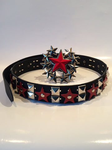 80's Glam - Michael Monroe Red Star Belt