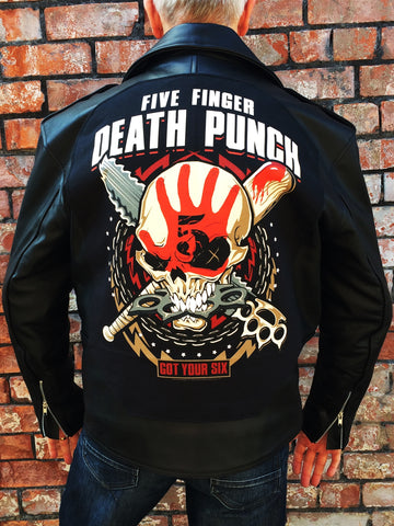Metalworks Five Finger Death Punch 'Got Your Six' Leather Jacket