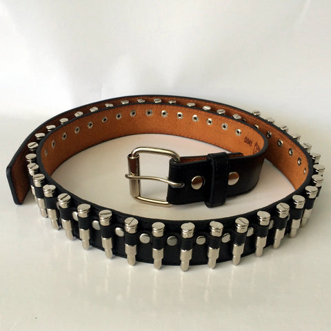 80's Metal Replica Nickel Bullet Belt