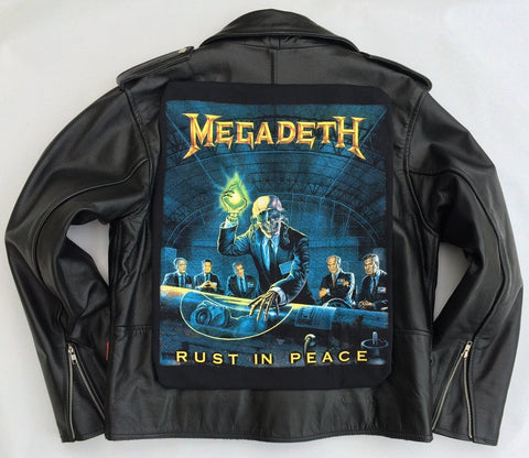 Metalworks Megadeth 'Rust In Peace' Leather Jacket