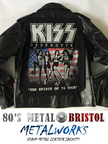 Metalworks Kiss 'Destroyer - Spirit Of 76' Leather Jacket