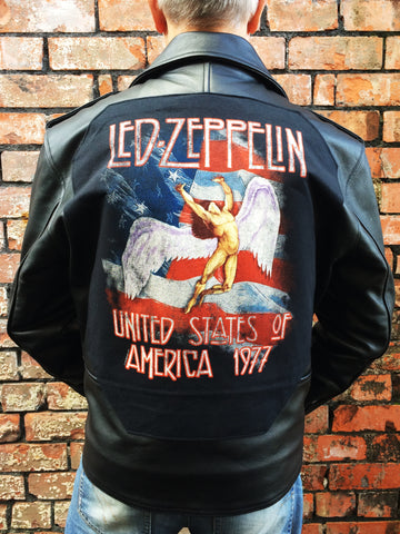 Metalworks Led Zeppelin 'USA 77' Leather Jacket