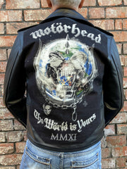 Metalworks Motorhead 'The World Is Yours' Leather Jacket