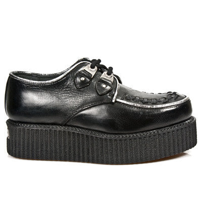 Creepers 2415 S1 Black Leather