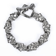 New Rock Ring Of Skulls Bracelet