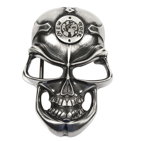 New Rock Grinning Skull Belt Buckle