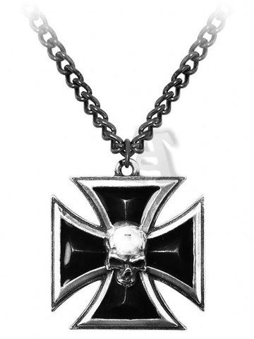 Black Knight's Cross Pendant & Neck Chain