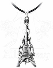 Flaming Flying V Pendant & Neck Thong