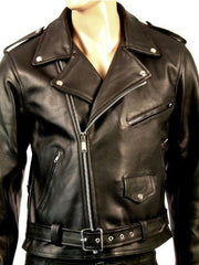 80's Metal 'Retro' Leather Jacket