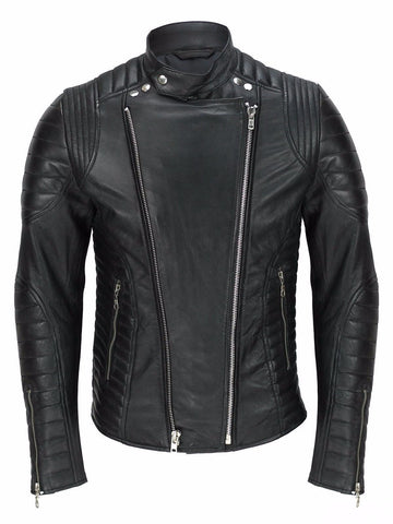 80's Metal Black Diamond 'Biker' Leather Jacket