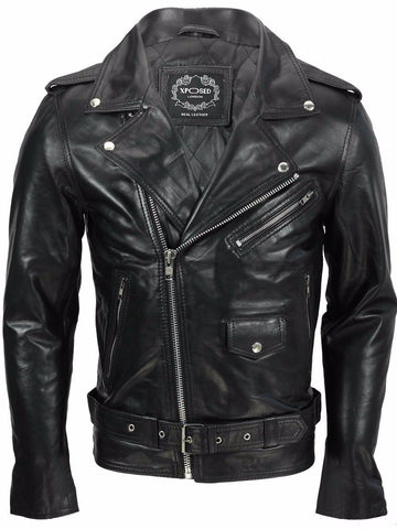 80's Metal Black Diamond 'Retro' Leather Jacket