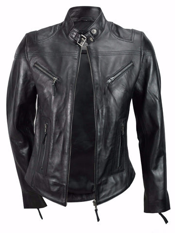 80's Metal Rock Chick 'Racer' Leather Jacket
