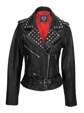80's Metal Rock Chick 'Rockstar' Leather Jacket