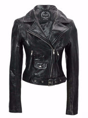 80's Metal Rock Chick 'Retro' Leather Jacket