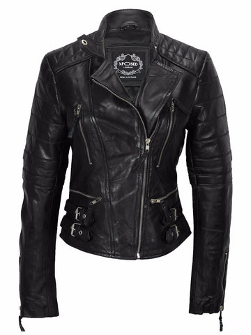 80's Metal Rock Chick 'Rocker' Leather Jacket