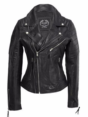 80's Metal Rock Chick 'Warrior' Leather Jacket