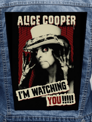Alice Cooper - I'm Watching You Metalworks Back Patch