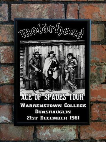 Motorhead 1981 'Ace Of Spades' Tour Poster
