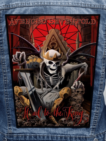 Avenged Sevenfold - Hail To The King Metalworks Back Patch