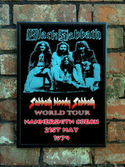 Black Sabbath 1974 'Sabbath Bloody Sabbath' UK Tour Poster
