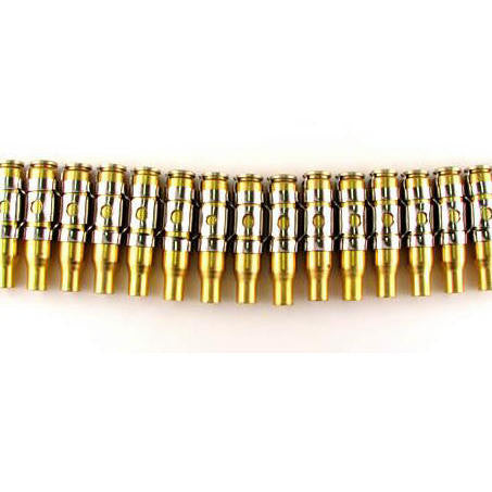 7.62 Sniper Brass Untipped Bullet & Nickel Link Belt