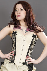 Rock Chick Chantelle Ivory Basque