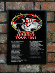 Gillan 1981 'Double Trouble' UK Tour Poster