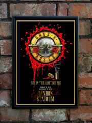 Guns N' Roses 2017 'Not In This Lifetime' UK Tour Poster